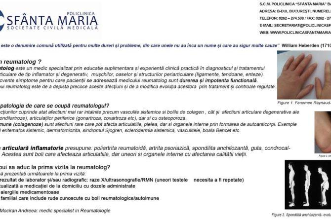 Specialitatea Reumatologie